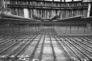 Interno dell'Armatura della Platea - Cantiere Via Torino - MIlano - Merope Asset Management