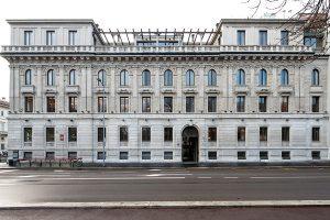 Frontale di Palazzo Bernasconi zona Palestro Milano - Merope Asset Management