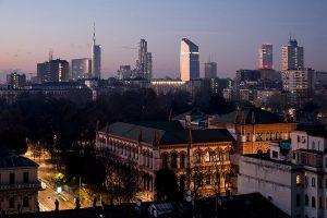 Skyline Milano da terrazza di Palazzo Bernasconi - Merope Asset Management