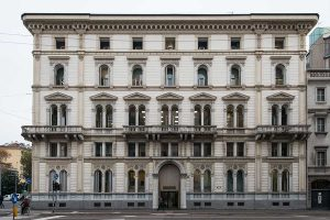 Facciata - Fronte Ovest Palazzo Corso Venezia 56 Milano - Merope Asset Management