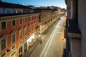 Scorcio Via Manzoni 9 a Milano
