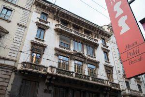 scorcio facciata palazzo Via Manzoni 9