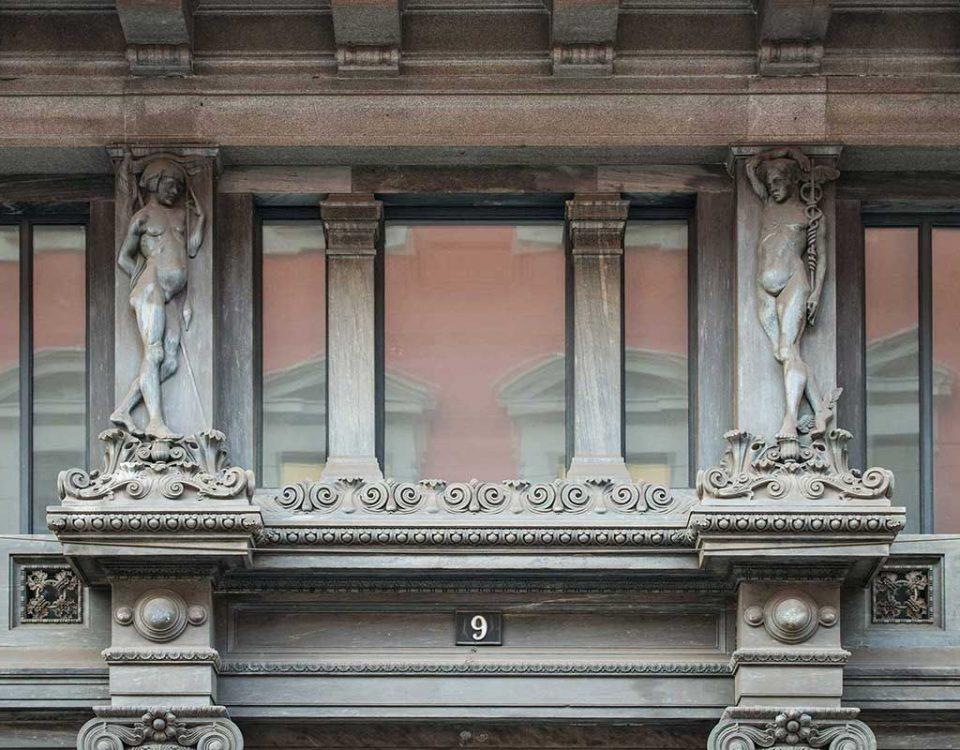 Facciata Palazzo Via Manzoni 9